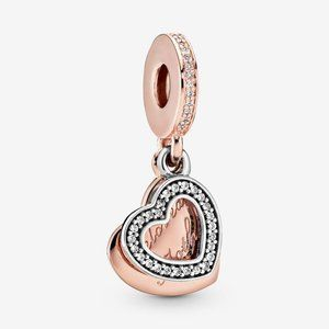 Pandora Beloved Mother Heart Dangle Charm
